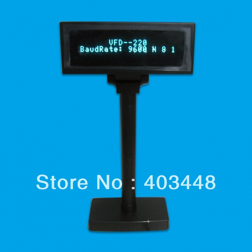 VFD Customer POS Display And 20X2 Characters Displayed With Serial Interface (VFD220A-R)