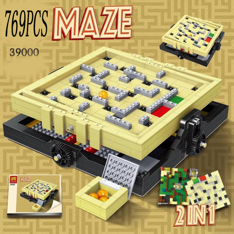 LEGOed technic lepin DIY IDEAS Series The Creative Marbles Maze Model Building Blocks Bricks Toys Compatible With 21305 16023