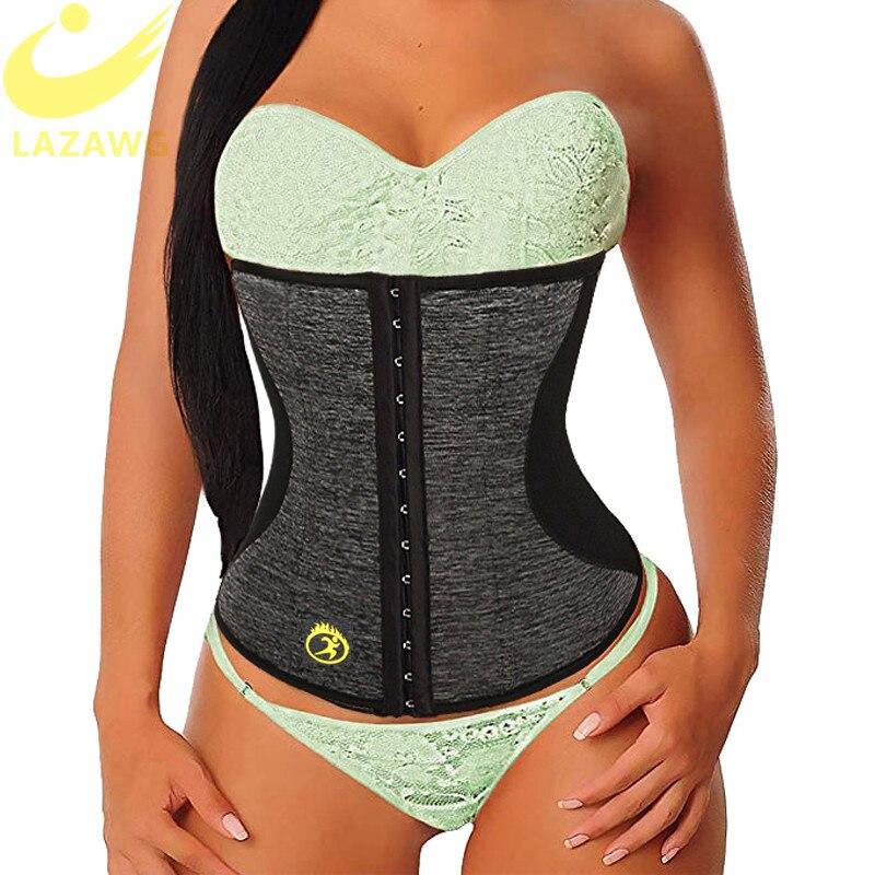 LAZAWG Mulheres Gym Workout Trainer Cintura Cinto Cintura Cincher Tummy Controle Cinturão Cinta Neoprene Suor Sauna Emagrecimento Shaper Do Corpo