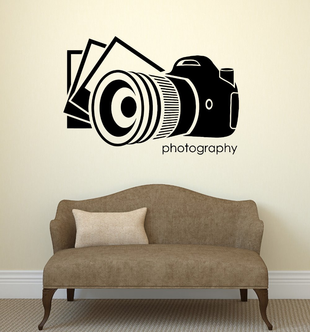 Buy cinema vinyl wall decal photo photography salon art phot - Decoration mural design ...