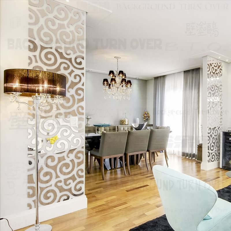Auspicious Clouds Decoration 3D Decorative Mirror Wall Stickers Living room Bedroom Home Decor TV Wall Door Tile Sticker R124
