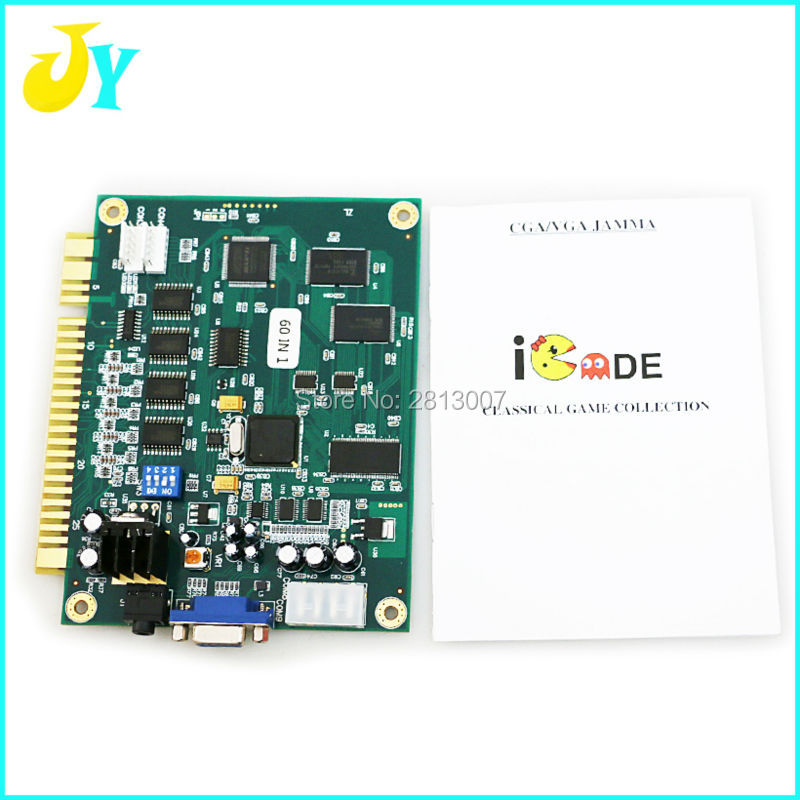 2Pcs Classical JAMMA Arcade Game 60 in 1 Multi Game PCB For Arcade Game Machine cabinet