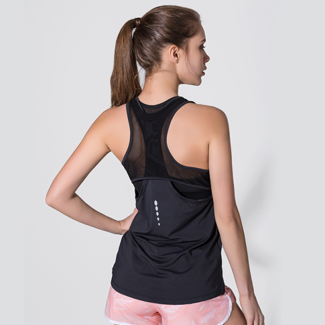 Women's Mesh Back Sports Tank Top  S-XL