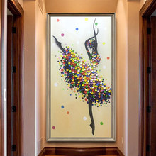 DIY 5D Ballet Dancer Diamond Embroidery Painting Full Drill Round Picture Cross Stitch Modern Paint Home Decor