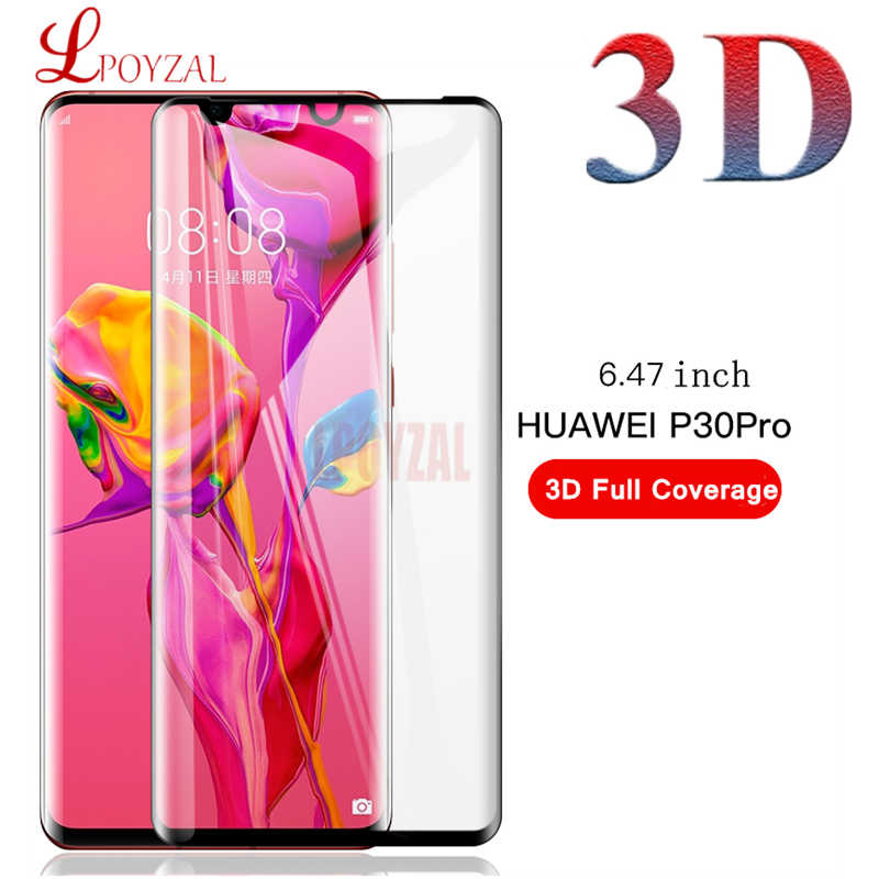LPOYZAL 3D HD Ultra Thin Screen Protector For Huawei P30 Pro P30 Lite 9H Tempered Glass For Huawei Mate 9 Pro Mate 20 Pro Lite
