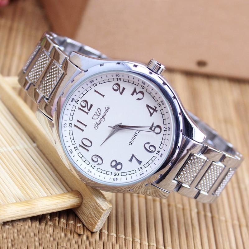 Men Women Couples Stainless Steel Watches New Brand Luxury High Quality Quartz Watch Gifts For Boyfriend Girlfriend Dress Watch