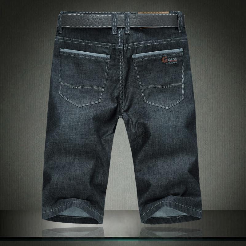 2018 New Fashion Summer Jeans Men Loose Straight Knee Length Denim Short Man Black Plus / Big Size 30-40 42 44 46 48 50 52 #1378