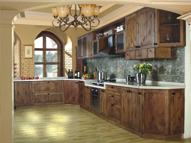 L Bentuk Lacquer Dapur Kabinet Modern Furniture