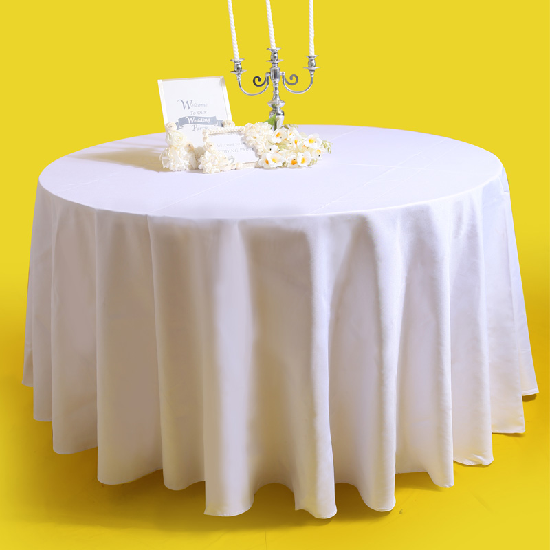 10pcs Polyester Visa Round Cocktail White Plain Table