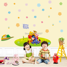 Free shipping Pooh and friends wall stickers for kids rooms pvc decal home decoration DLX-126L