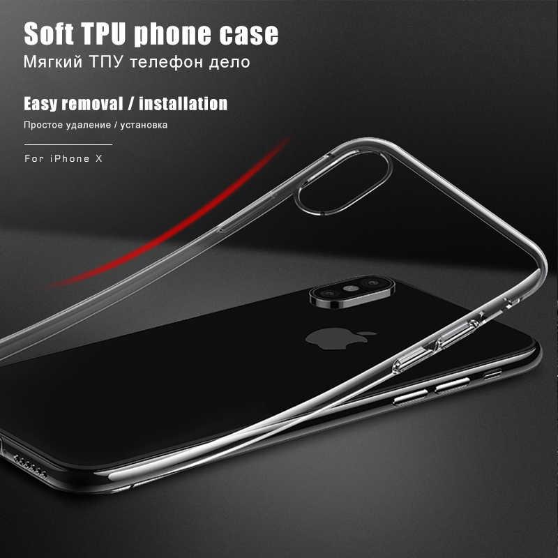حافظة لهاتف iPhone XR XS Max X 10 8 7 6 S 6 S Plus 5 5s SE 4 4s حافظة من السيليكون الناعم