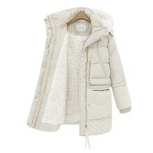 Kobiety Midi długi płaszcz duży rozmiar dół kurtki pani biała kurtka puchowa z kapturem płaszcze kobieta gruba zimowa kurtka odzież wierzchnia 462