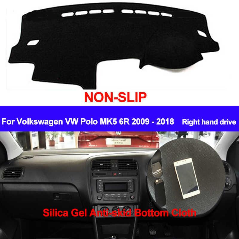 TAIJS Đối Với Volkswagen VW Polo MK5 6R 2009 2010-2015 2016 2017 2018 Dash Mat DashMat Silicone Không- trượt Sun Bóng Râm Bảng Điều Khiển Bìa