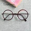 Старинные тенденция мужчины женщины ретро круглые очки кадр компьютерные очки дизайн бренда W1188