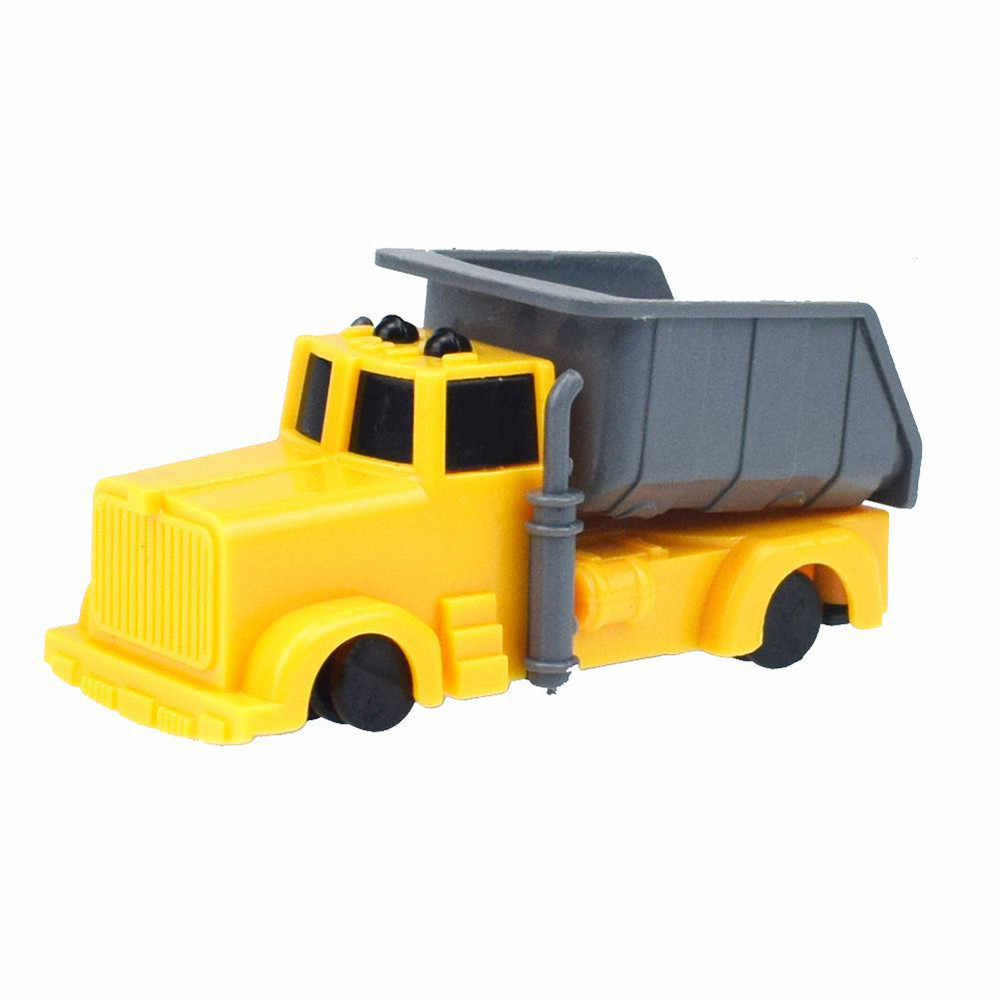 Mini Children Educational Model Toys kids Vehicle Diecast Sliding Engineering lovely Yellow decoration action figure D301205GJ