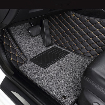 Custom car 5 seats floor mats for NISSAN All Models Armada Altima Dualis Juke Frontier Fuga accessorie car styling floor mat image