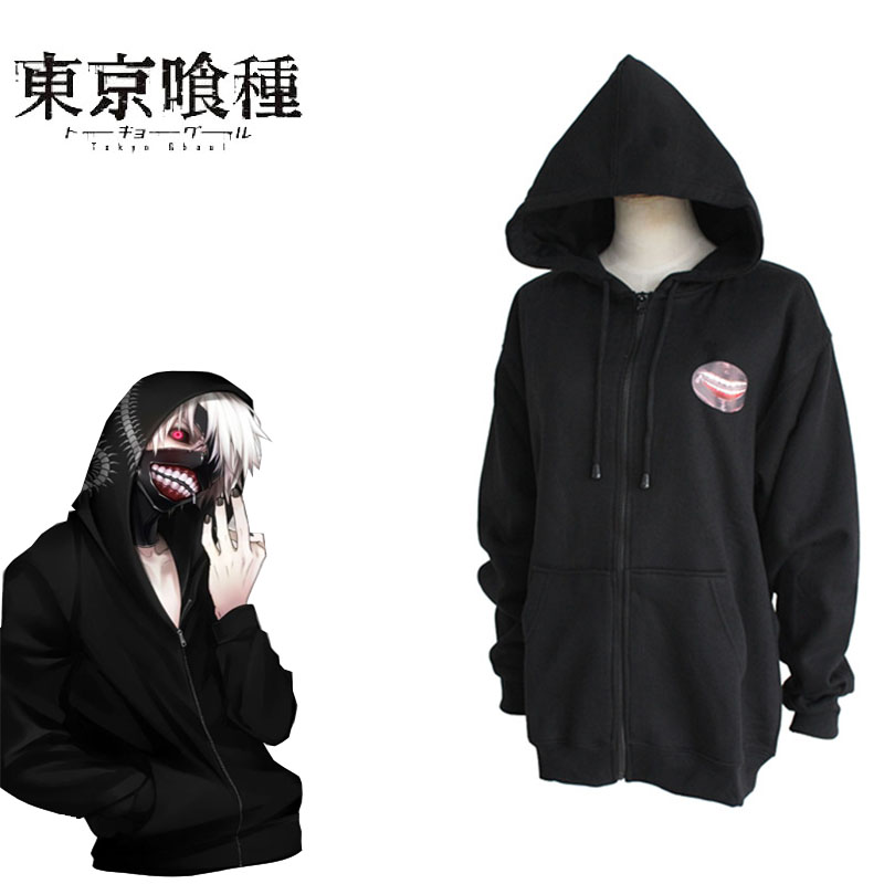 Ken Kaneki Cosplay Tokyo Ghoul Costumes Janpanese Anime For Unisex Adults Jacket With Hat For Halloween Carnival Party