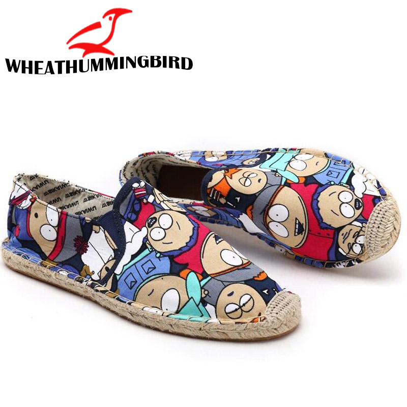 Women Casual canvas Shoes cartoon Linen Girl Espadrille Fisherman Shoes Ladies Flats Plimsolls Loafers driving shoes LF-5050 6