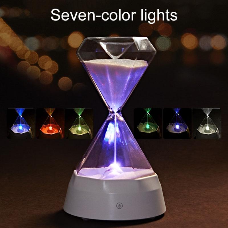 ดนตรีทรายแก้วข้างเตียงเครื่องประดับที่มีสีสัน Night Light สำหรับห้องนอนหน้าแรก SKD88-ใน ไฟกลางคืน LED จาก ไฟและระบบไฟ บน title=