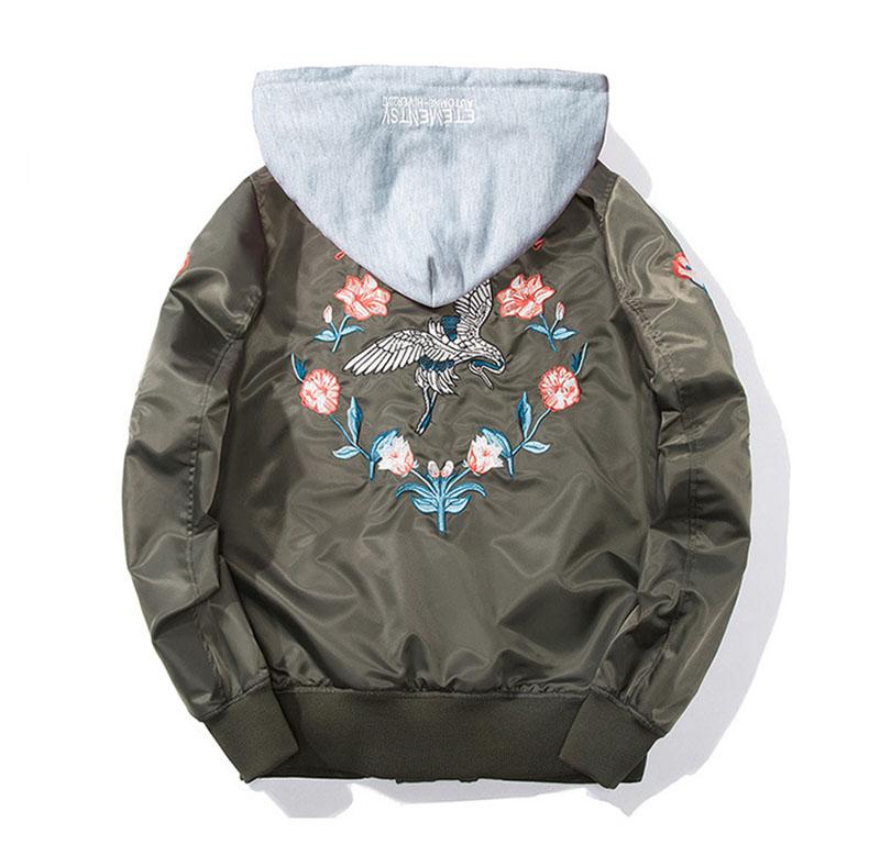 Aolamegs Bomber Jacket Japanese Embroidery Thin Men's Jacket Couple Hip Hop Fashion Outwear Autumn Men Coat Baseball Jackets New (7)