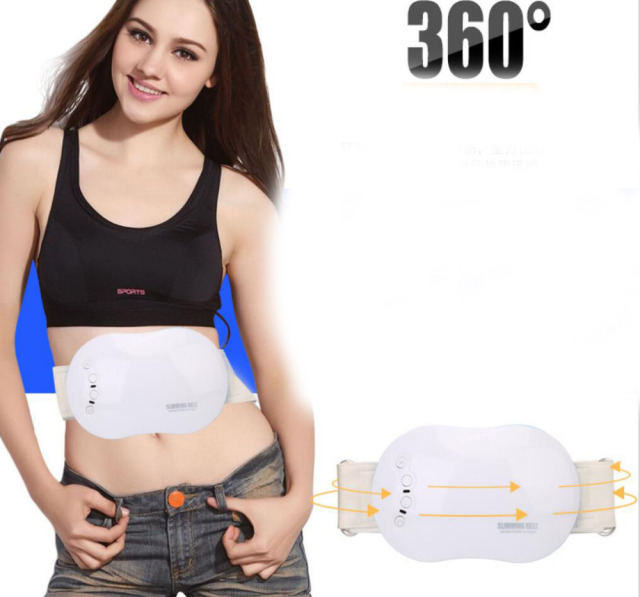 95c0489a3f Electric Slimming Belt Vibrating women waist Back slimming Body Massage Belt  tool Shaper Fat Burning Massage Belt Weight Loss