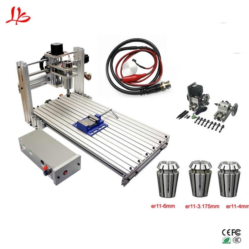 CNC 3060 Engraving Cutting Machine 4aixs Aluminum Copper Wood Pvc Pcb Carving Machine