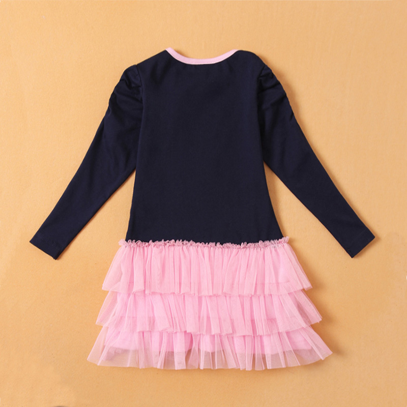Baby Girl Dress Summer 2019 Children Clothing Printed Fashion Cartoon Pattern Princess Dress Girls Dress Cotton Girl Vestido
