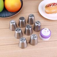 19pcs Set Stainless Steel Icing Piping Tips Fondant Nozzles DIY Cake Embossed Baking Tool Set Household