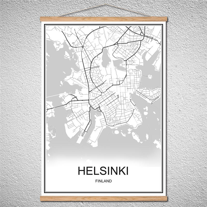 Helsinki World Map.Helsinki With Frame World Map City Poster Abstract Print Picture Oil