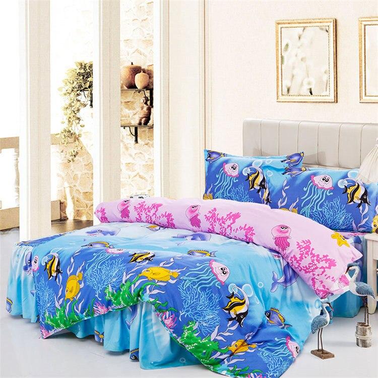 Tropical Bedding Hawaiian Bedding Prints Isola Blue
