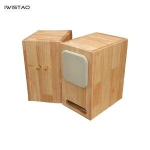Image 3 - IWISTAO HIFI מבוך 4 אינץ מלא טווח רמקול ריק מארז צפצפה דיקט או מוצק עץ 15mm עובי לוח