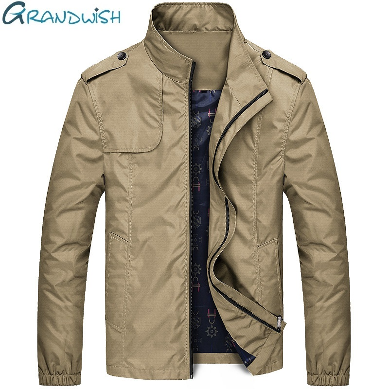 Grandwish 2017 Autumn font b Jacket b font Men Turn down Collar Men s Casual font