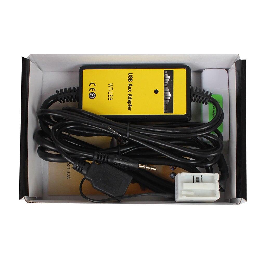 Vehemo AUX 12 P автомобиля Интерфейс адаптер автомобильный MP3 профессиональный адаптер шнур в вход Авто Интерфейс адаптер аудио