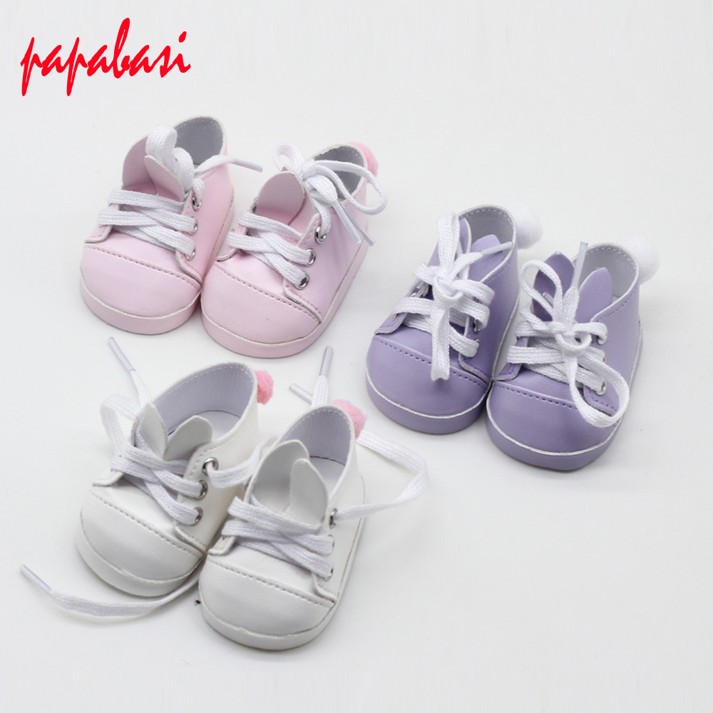 Cute Rabbit shoes For 18 inch 45CM American Girl Doll, shoes for 43CM Zapf doll shoes for reborn baby doll [mmmaww] christmas costume clothes for 18 45cm american girl doll santa sets with hat for alexander doll baby girl gift toy