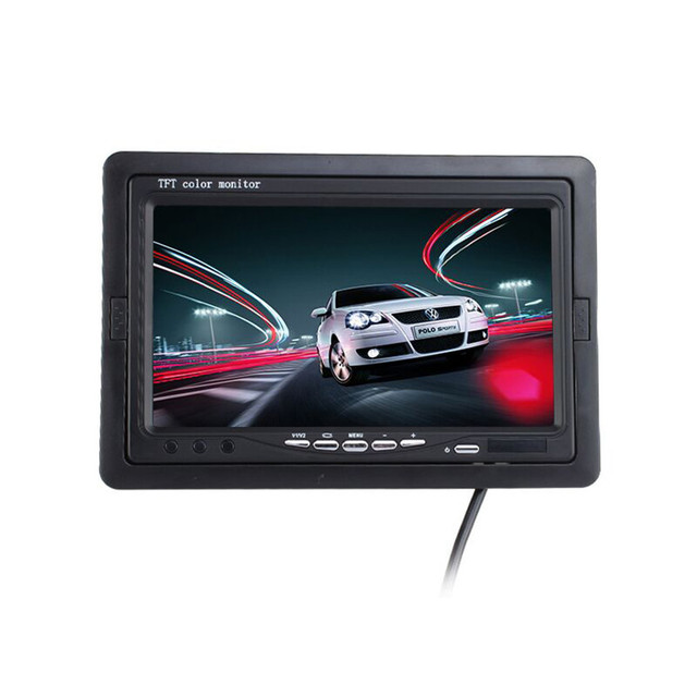 "7 inch TFT LCD Digital Color Monitor 7"" Car Headrest Monitor Screen Car Rear View Monitor Kit For DVD VCD Backup Reverse Camera"
