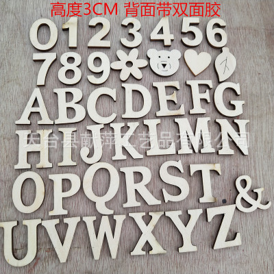 Numbers Letters Double Sided Glue On