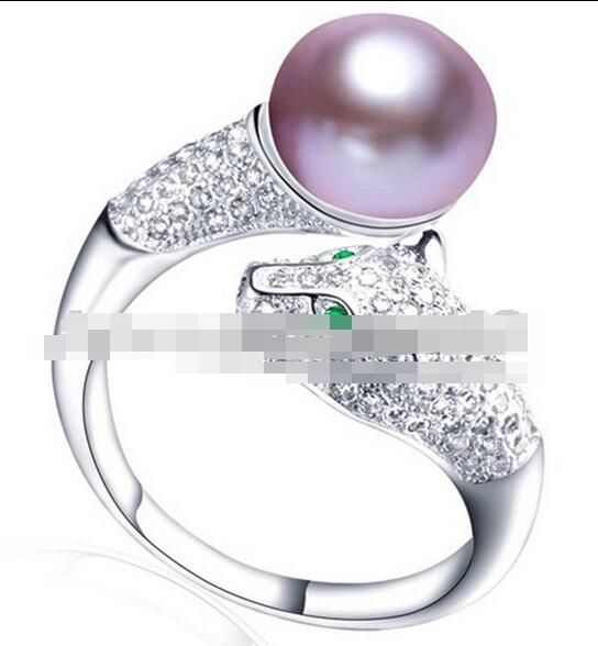 AAA 10-11mm Round Golden Genuine South Sea Cultured Pearl Ring 14KYellow Gold