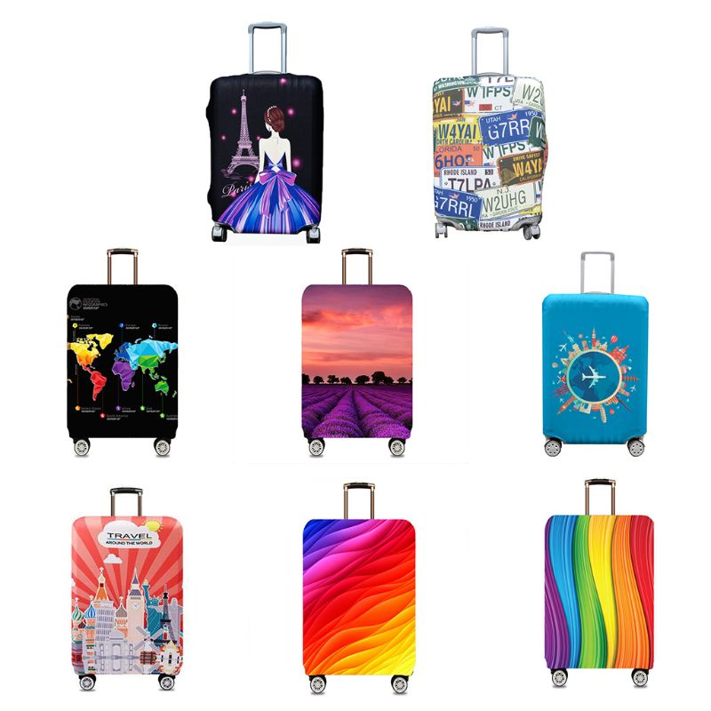 2019 Polyester Spandex Fiber Travel Luggage Cover Suitcase Protector Dust Covers Case Fits 18-32 Inch S/M/L/XL