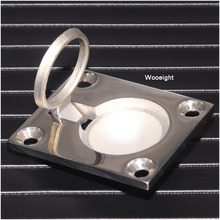 Wooeight 48*39mm High Quality 316 Stainless Steel Boat Accessories Marine Ring Handle Cover Flush Hatch Locker Cabinet Pull Lift