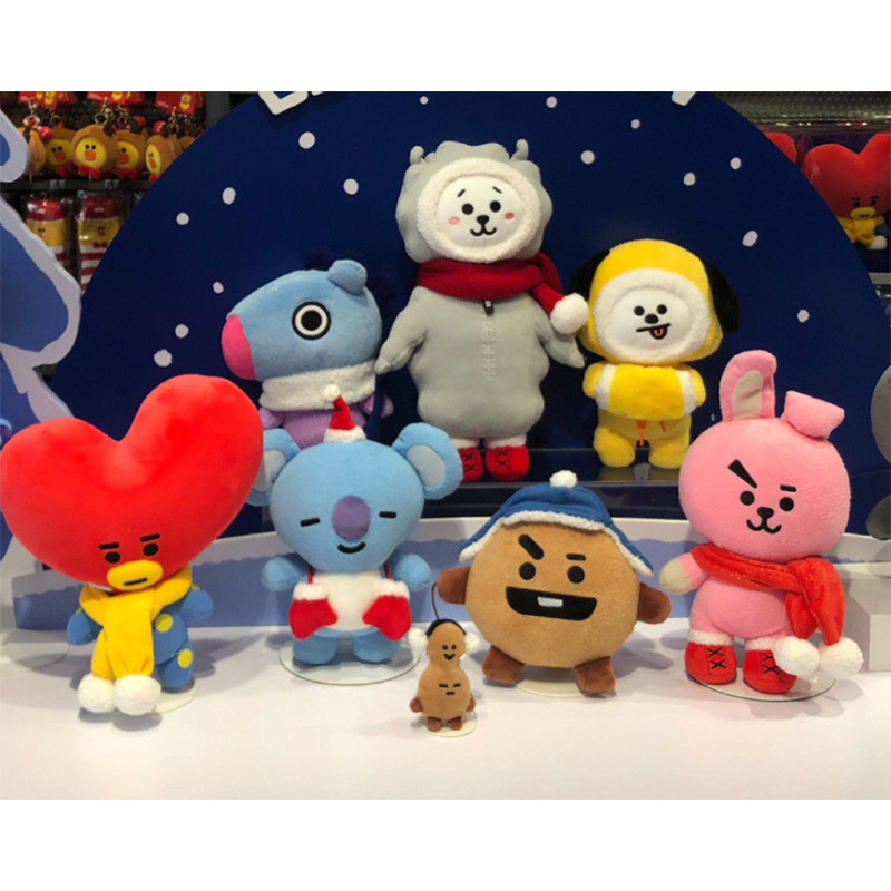 Kpop Bangtan Boys BTS BT21 Vapp Same Christmas Doll Plush Toy Warm Bolster TATA COOKY CHIMMY KOYA SHOOKY Xmas Gifts Home Decor