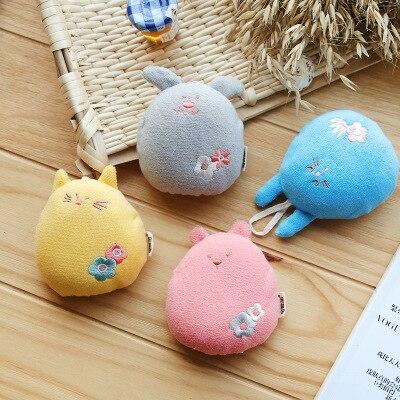 4Colors Cartoon Super Soft Cotton Bath Shower Products Cute Animal Modeling Sponge Powder Rubbing Bath Products For Children