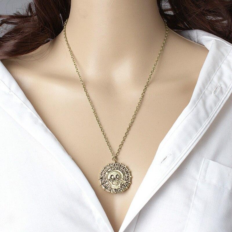 Fluch Der Karibik Halskette Jack Sparrow Aztekische Münzen Medaillon