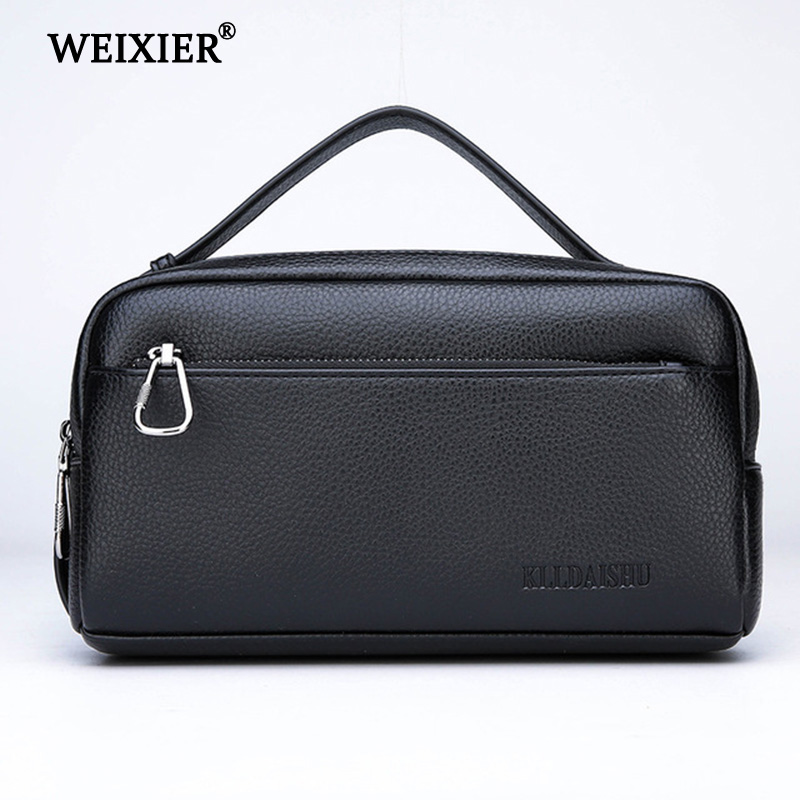 WEIXIER PU Leather Casual portfolio wallets high quality Male Large Capacity Purse Cell Phone Pocket CarteiraMasculina