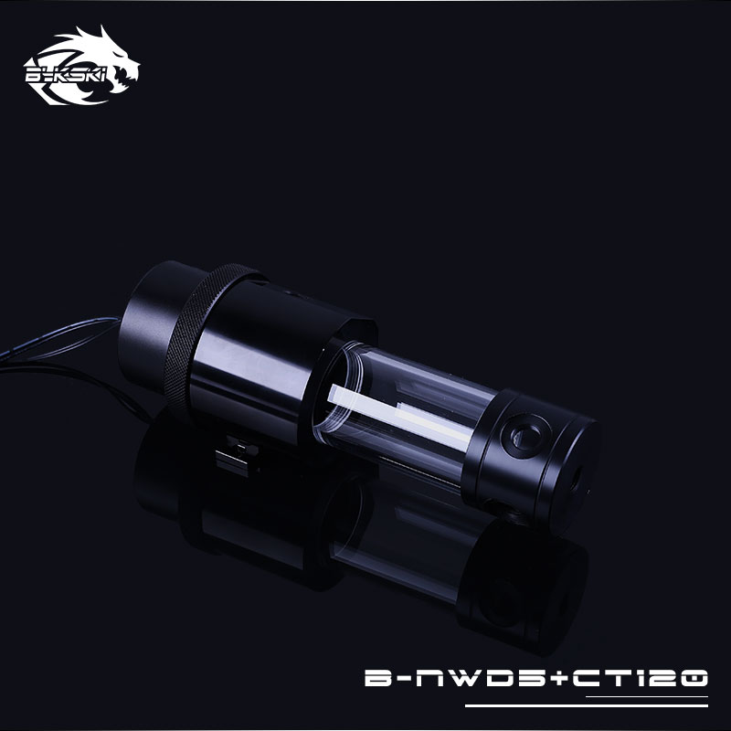 Bykski B NWD5 CT Integrated Reservoir Water Cooling Pump 1100 1500L 3 8M Black