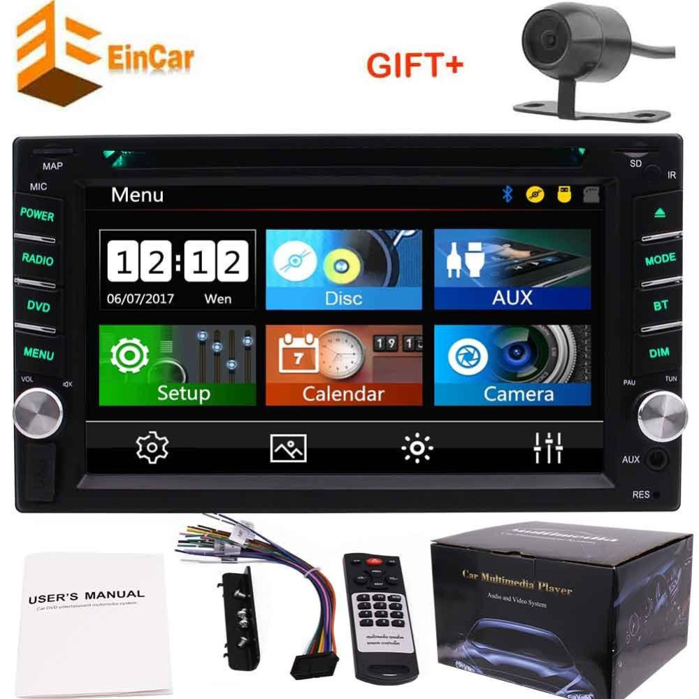 Double din 2din car radio autoradio no GPS in dash headunit DVD CD player automagnitol bluetooth,USB,AUX,video&audio+rear camera 2 din car dvd frame dashboard kits front bezel radio frame adaper dvd cover dash trim kit for kia rio 5 door rhd double din