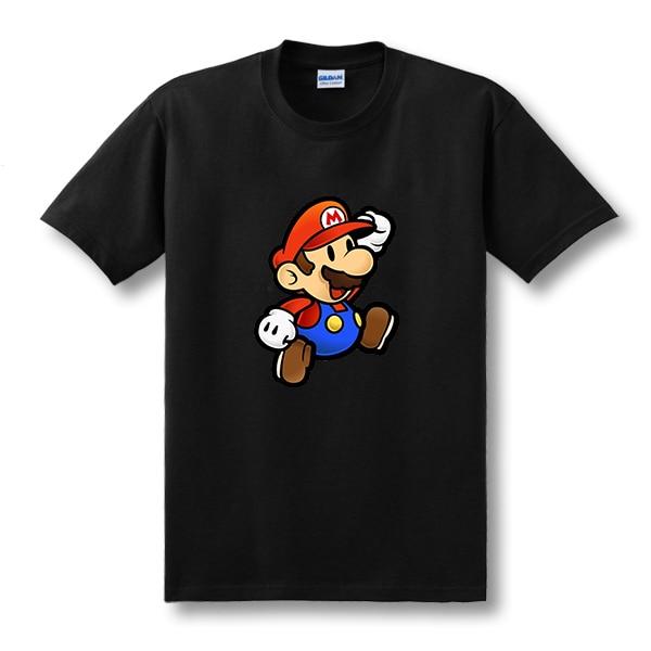 Noua moda Super Mario T Shirt Mario Brothers model de desene animate T-shirt Top Tees cu maneca scurta Mens Clothing Size XS-XXL