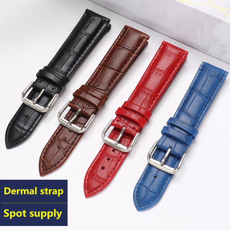 Luxury watch belt strap wristwatches band Female red white black  Genuine leather10 12 14 15 16 17 18 19 20 21 22 24mmwatchband