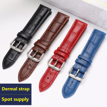 Luxury watch belt strap wristwatches band Female red white black Genuine leather10 12 14 15 16 17 18 19 20 21 22 24mmwatchband(China)