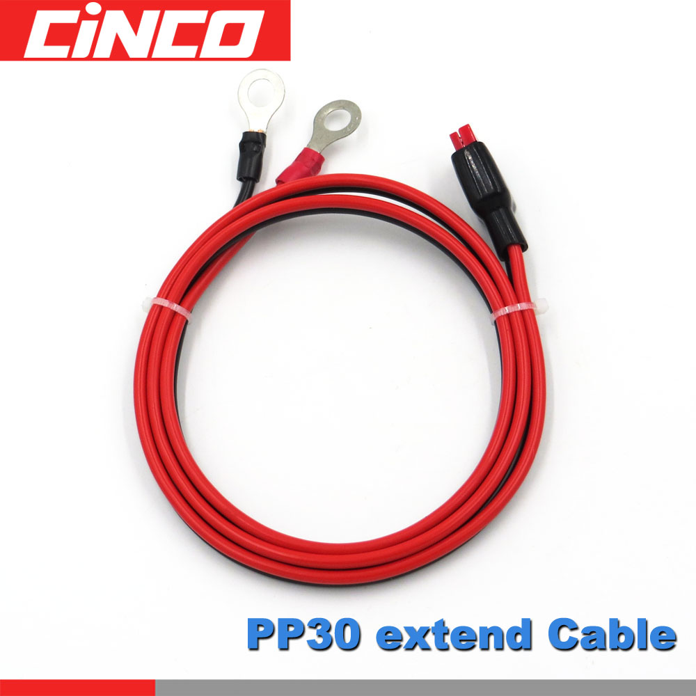 Extend cable solar cable Connect with M8 terminal ring 1ft 3ft 6ft PowerBank Plug PP30 30A 600V Battery lug bolt tabExtend cable solar cable Connect with M8 terminal ring 1ft 3ft 6ft PowerBank Plug PP30 30A 600V Battery lug bolt tab