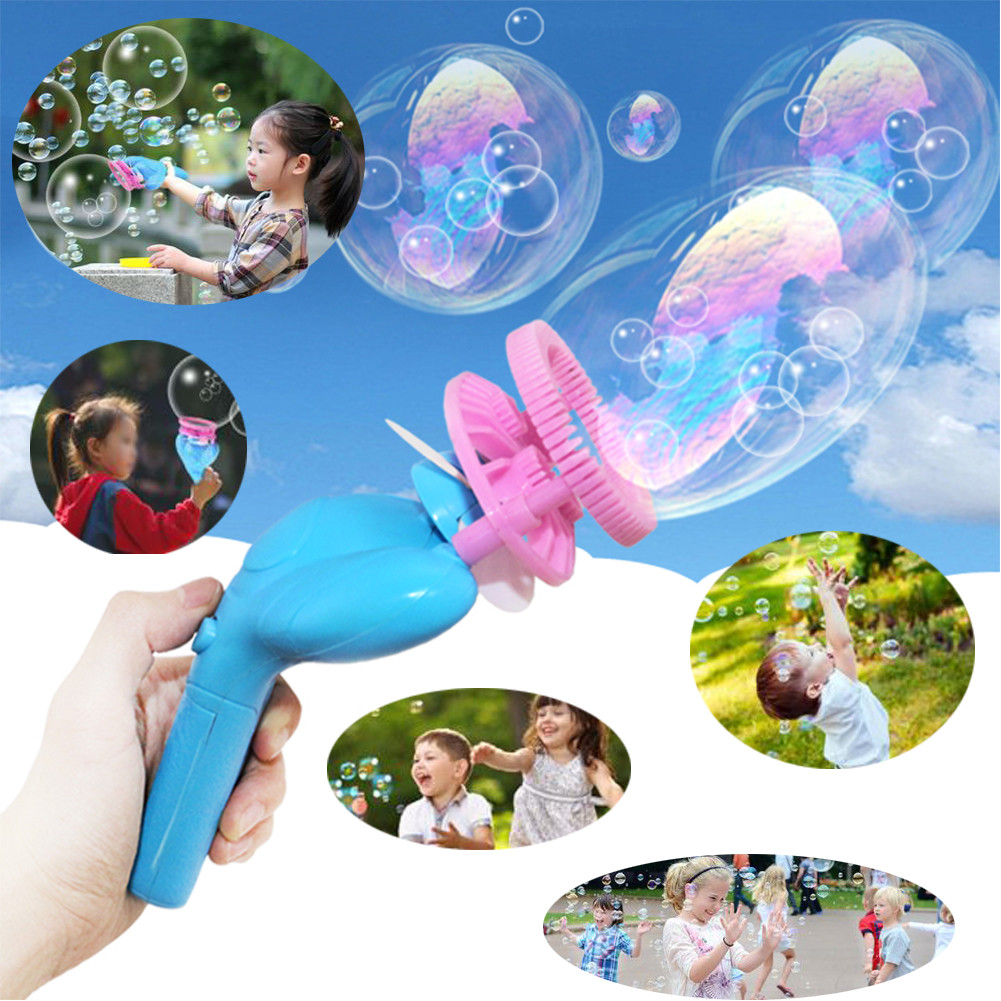 Kids Toy Baby Funny Toys For Boy Girl Funny Summer Magic Bubble Blower Machine Bubble Maker Mini Fan Kids Outdoor Toys